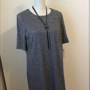 London Style Gray Lining A Line Dress